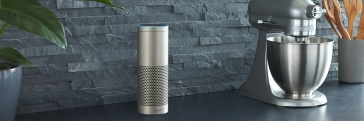 Echo Plus, Silver, Kitchen Counter